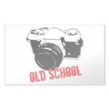 Old School Rectangle Sticker 50 pk)
