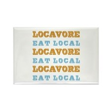 Locavore Eat Local Rectangle Magnet