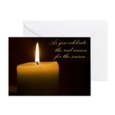 Solstice Candle Greeting Card