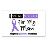 I Wear Violet For My Mom Rectangle Sticker 10 pk)