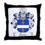 Vestri Family Crest Throw Pillow