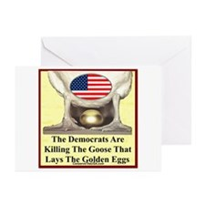 """Dems Are Killing Us"" Greeting Cards (Pk of 10)"