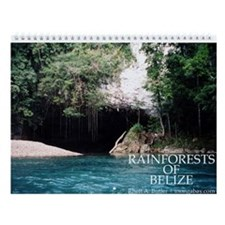 Rainforests of Belize Wall Calendar