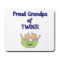 Grandpa of Twins Mousepad