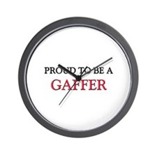 Proud to be a Gaffer Wall Clock