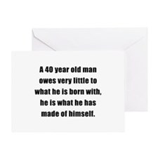 40th Birthday Gifts for Men Greeting Card
