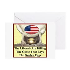 """Libs Are Killing Us"" Greeting Card"