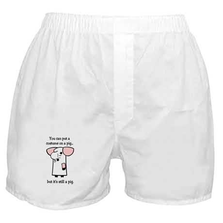 Costume on a Pig Boxer Shorts