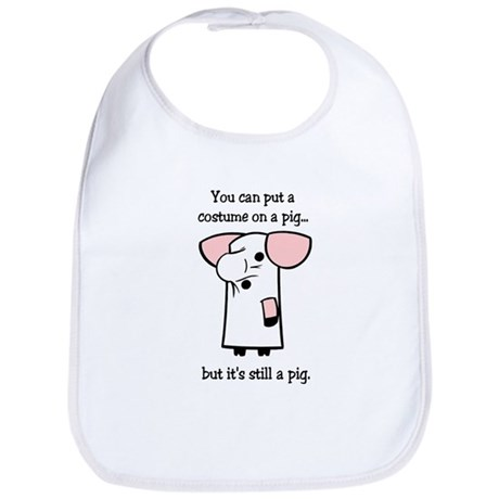 Costume on a Pig Bib