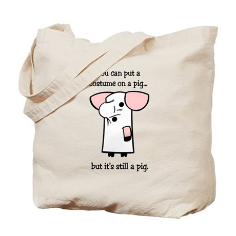 Costume on a Pig Tote Bag