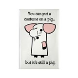 Costume on a Pig Rectangle Magnet (10 pack)