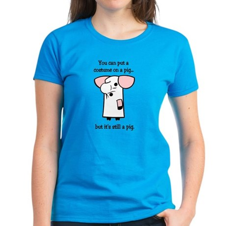 Costume on a Pig Women's Dark T-Shirt