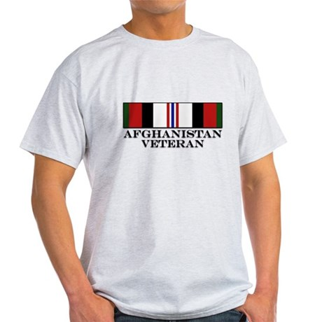 Afghanistan Veteran Medal Light T-Shirt
