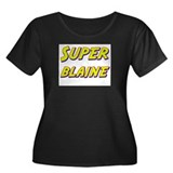 Super blaine Women's Plus Size Scoop Neck Dark T-S