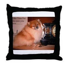 Black Pomeranian (Coal) Throw Pillow