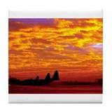 Sunset Over Ramstein Tile Coaster