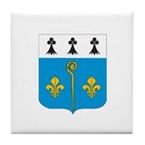 saint julien de vouvantes Tile Coaster