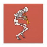 Trumpeter Skeleton Tile Coaster