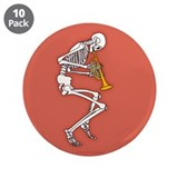 "Trumpeter Skeleton 3.5"" Button (10 pack)"