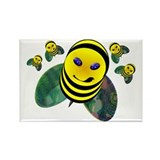 Busy Bee by TIKI TOON Rectangle Magnet