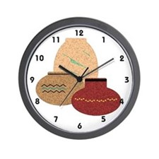 Clay Pots Wall Clock