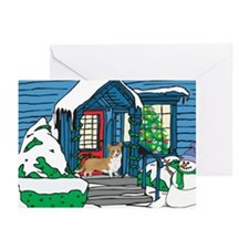 Welcome Corgi Christmas Greeting Cards (Pk of 10)