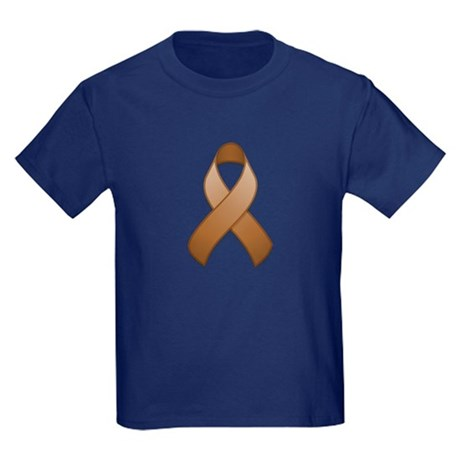 Brown Awareness Ribbon Kids Dark T-Shirt