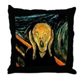Munch's The Scream Throw Pillow