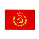 New USSR Flag Rectangle Magnet