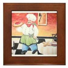 Unique Chef Framed Tile