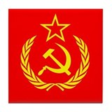 New USSR Flag Tile Coaster