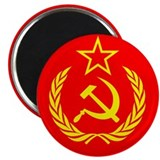"New USSR Flag 2.25"" Magnet (100 pack)"