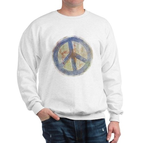 Urban Chic Peace Sign Sketch Men's Sweatshirt