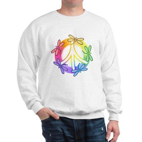 Dragonfly Peace Sign Men's Sweatshirt