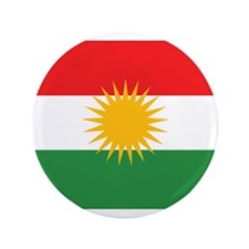 "Kurdish Flag 3.5"" Button (100 pack)"