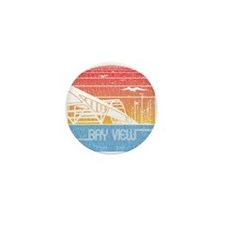 Vintage Bay View Mini Button (10 pack)