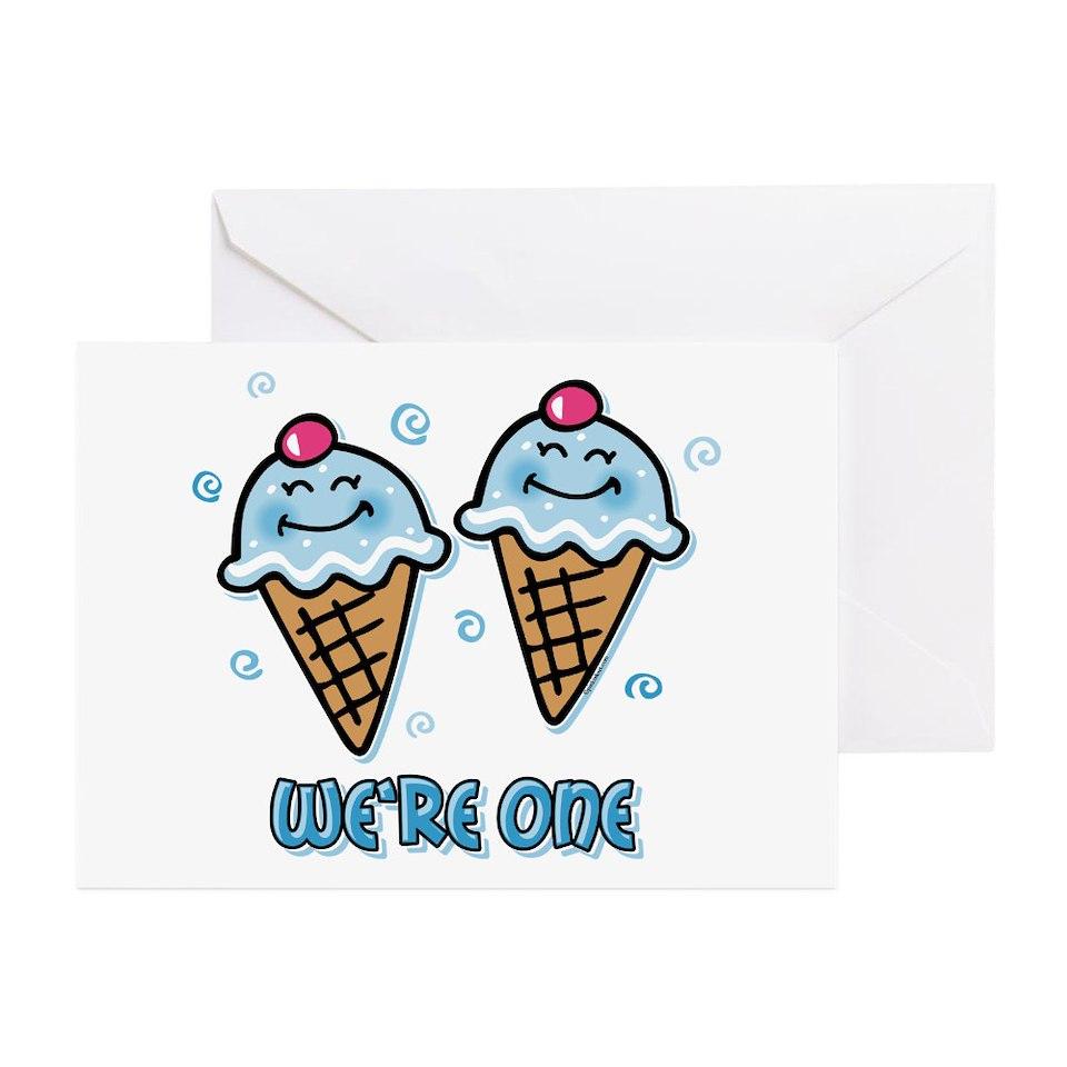 Twins 1St Birthday Greeting Cards Buy