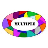 "DID/MPD oval sticker-""Multiple"""