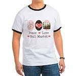 Peace Love Bull Market Ringer T