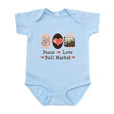 Peace Love Bull Market Infant Bodysuit