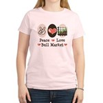 Peace Love Bull Market Women's Light T-Shirt