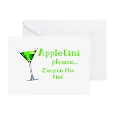 Appletini please... easy on the 'tini' Greeting Ca