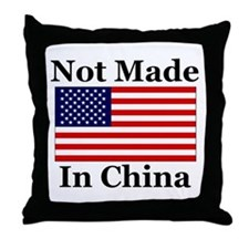Not Made In China - America Throw Pillow