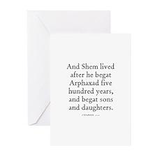 GENESIS  11:11 Greeting Cards (Pk of 10)
