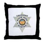 Calif State Ranger Throw Pillow