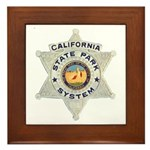 Calif State Ranger Framed Tile