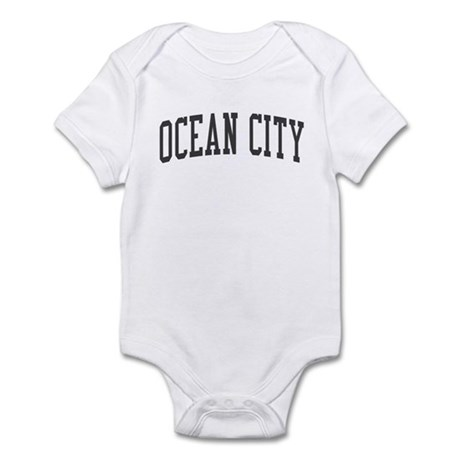 Ocean City New Jersey NJ Black Infant Bodysuit
