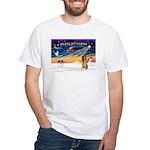 XmasSunrise/Bel Tervuren White T-Shirt