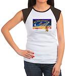 XmasSunrise/Bel Tervuren Women's Cap Sleeve T-Shir