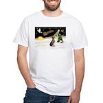 Night Flight/Weimaraner White T-Shirt